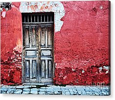 Antigua Door  Acrylic Print