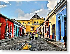 Antigua Street Acrylic Print