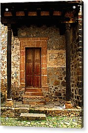 Antiguo Hospital De Santa Maria Acrylic Print by Mexicolors Art Photography