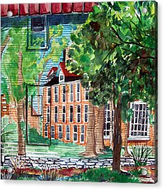 Antioch Yellow Springs Ohio Mural Acrylic Print by Mindy Newman