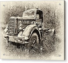 Antique 1947 Mack Truck Acrylic Print by Mark Allen