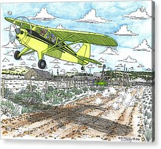 Antique Airplane Taking Flight Acrylic Print by Bill Friday
