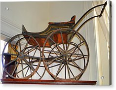 Antique Baby Buggy Acrylic Print by Linda Covino