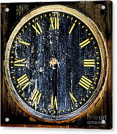 Antique Bell Tower Clock Acrylic Print by Olivier Le Queinec