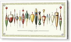 Antique Bobbers Acrylic Print by JQ Licensing