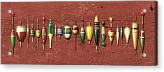 Antique Bobbers Red  Acrylic Print by JQ Licensing