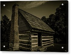 Acrylic Print featuring the photograph Antique Cabin - The Hermitage by James L Bartlett