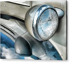Antique Car Headlight And Reflections Acrylic Print