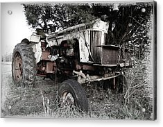 Antique Case Tractor Acrylic Print