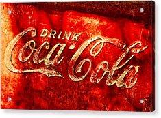 Antique Coca-cola Cooler Acrylic Print by Stephen Anderson