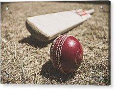 Antique Cricket Test Match Acrylic Print