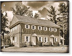 Antique Crosswicks Meeting House Acrylic Print by Olivier Le Queinec