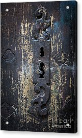 Acrylic Print featuring the photograph Antique Door Lock Detail by Elena Elisseeva