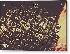 Antique Enigma Code Acrylic Print by Jorgo Photography - Wall Art Gallery
