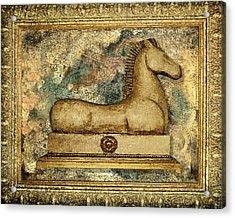 Antique Equine Acrylic Print by Carol Peck