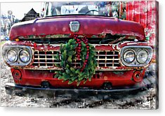 Antique Ford Christmas Acrylic Print