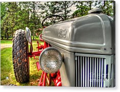 Antique Ford Tractor Acrylic Print by Michael Garyet