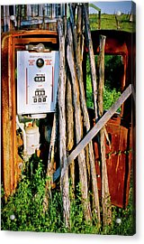 Acrylic Print featuring the photograph Antique Gas Pump by Linda Unger