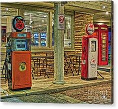 Antique Gas Pumps Acrylic Print