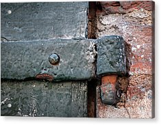 Acrylic Print featuring the photograph Antique Hinge by Elena Elisseeva