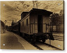 Antique Iron Range Caboose Acrylic Print