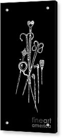 Antique Jewelry Pins Tee Acrylic Print by Edward Fielding