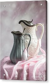 Antique Jugs Acrylic Print by Amanda Elwell