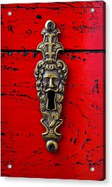 Antique Key Hole On Red Box Acrylic Print