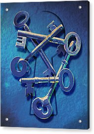 Antique Keys Acrylic Print by Kelley King