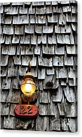 Antique Lamp And Wooden Tiles Frederick Maryland Acrylic Print