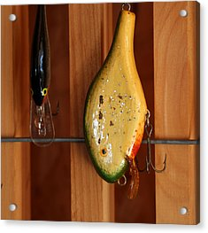 Antique Lure Acrylic Print by Linda A Waterhouse