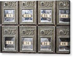 Antique Mailbox Acrylic Print