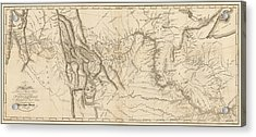 Antique Map - Lewis And Clark's Track Across North America Acrylic Print
