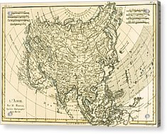 Antique Map Of Asia Acrylic Print by Guillaume Raynal