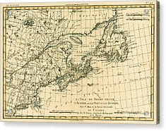 Antique Map Of Eastern Canada Acrylic Print