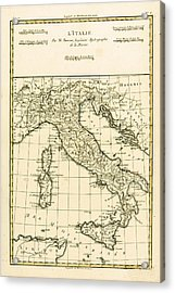 Antique Map Of Italy Acrylic Print by Guillaume Raynal