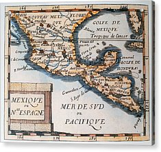 Antique Map Of Mexico Or New Spain Acrylic Print by French School