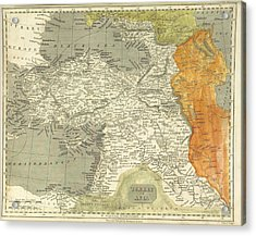 Antique Map Of Turkey Acrylic Print by Celestial Images