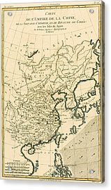 Antique Map The Chinese Empire Acrylic Print by Guillaume Raynal