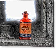 Antique Mercurochrome Hynson Westcott And Dunning Inc. Medicine Bottle - Maryland Glass Corporation Acrylic Print