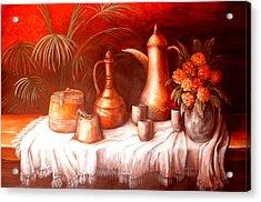 Antique Moroccan Pots Still Life Acrylic Print