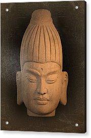 antique oil effect Buddha Burmese Acrylic Print by Terrell Kaucher