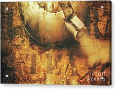 Antique Old Tea Metal Sign. Rusted Drinks Artwork Acrylic Print