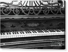 Antique Piano Black And White Acrylic Print