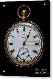 Antique Pocket Watch Acrylic Print by Adrian Evans