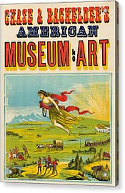 Antique Poster Chase And Bachelder's American Museum Of Art 1875 Acrylic Print