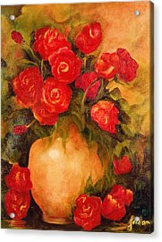 Antique Roses Acrylic Print by Jordana Sands