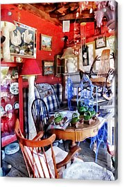 Antique Shop Acrylic Print by Susan Savad