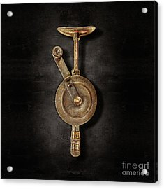 Antique Shoulder Drill Front On Black Acrylic Print