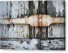 Acrylic Print featuring the photograph Antique Shutter Detail by Elena Elisseeva